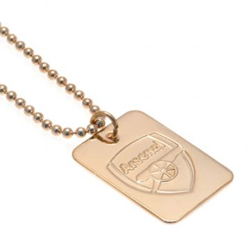 Arsenal Gold Plated Dog Tag & Chain